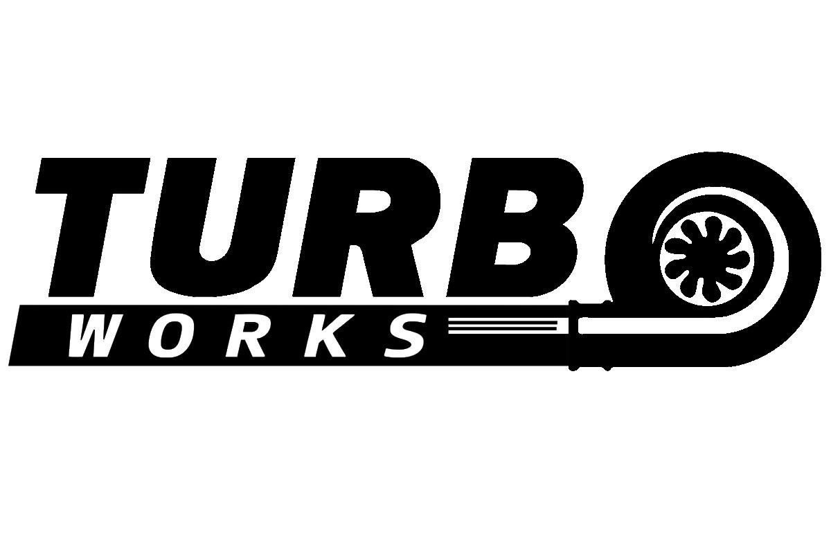 Naklejka TurboWorks Czarna - GRUBYGARAGE - Sklep Tuningowy